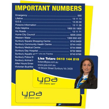 Flyer + Fridge Magnet Attached A6, 250gsm, Double Sided 105mm x 148mm