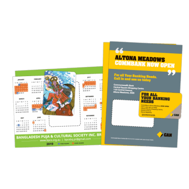 Flyer + Fridge Magnet Attached A5, 350gsm, Double Sided 148mm x 210mm
