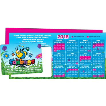 Flyer + Fridge Magnet Attached DL, 350gsm, Double Sided 99mm x 210mm