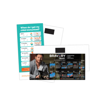 Flyer + Magnetic Tab DL, 350gsm, Single Sided 99mm x 210mm