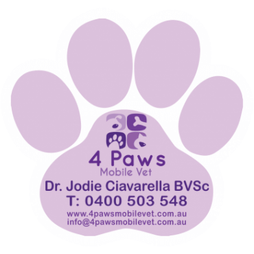 Shaped Magnets Paw Print 55mm x 52mm