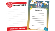 Straight Edged-105mm x 148mm-To Do List Magnets